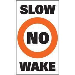 Taylor 3005.0701 Slow No Wake Buoy Labels - Pack of 2 ()