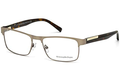 Zegna Ermenegildo Glasses - ERMENEGILDO ZEGNA Eyeglasses EZ5031 034 Shiny Light Bronze 54MM