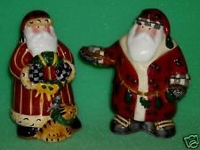 Sakura Santa's Spirit Salt & Pepper Shakers Debbie Mumm