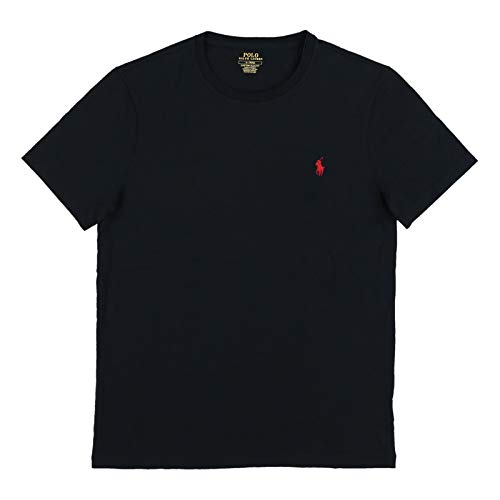 - Polo Ralph Lauren Mens Short Sleeve Custom Slim Fit T-Shirt (M, Polo Black)