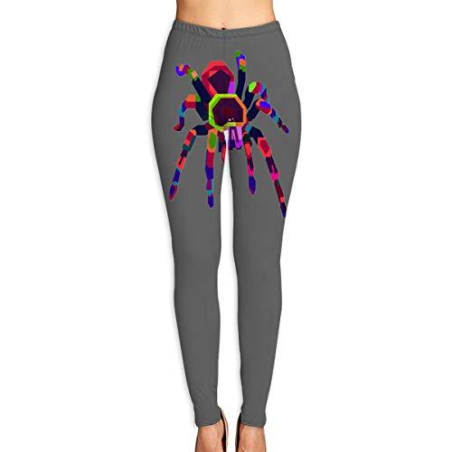 DUFCJVY Colorful Tarantula High Waist Women's Yoga Pants Yoga Leggings ()