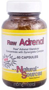 (Natural Sources, Raw Adrenal, 60 Capsules)