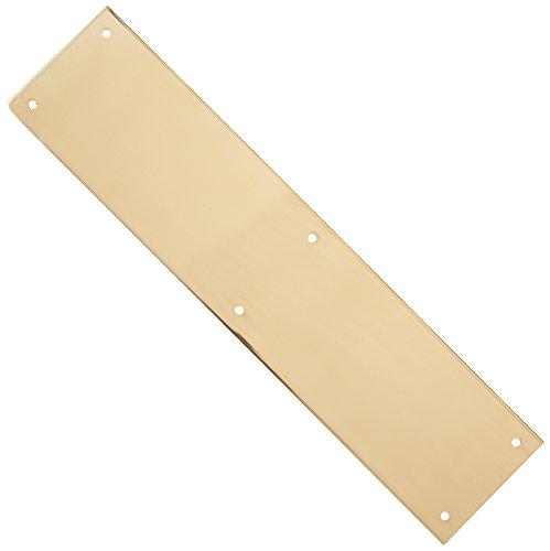 (Deltana PP3515U3 3 1/2-Inch x 15-Inch Solid Brass Push Plate)