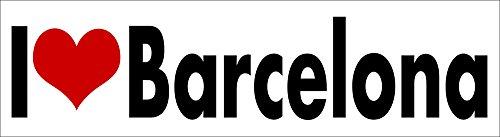 (i Love Barcelona STICKER DECAL VINYL BUMPER Barca Spain FC Football Soccer Fan Club DÉCOR CAR TRUCK LOCKER WINDOW WALL NOTEBOOK)