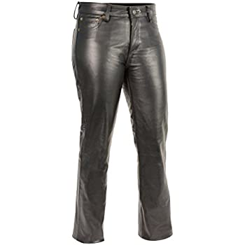 24c799af78ad Amazon.com  Xelement XS679 Women s Black Buffalo Leather Pants ...
