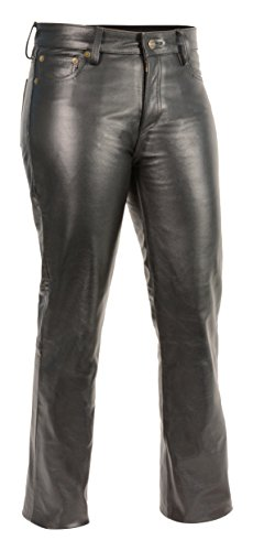 Milwaukee Leather Women's Premium Leather Pants (Black, Size 16) -