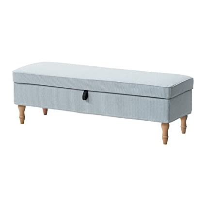 Marvelous Amazon Com Ikea Bench Cover Remvallen Blue White Bralicious Painted Fabric Chair Ideas Braliciousco