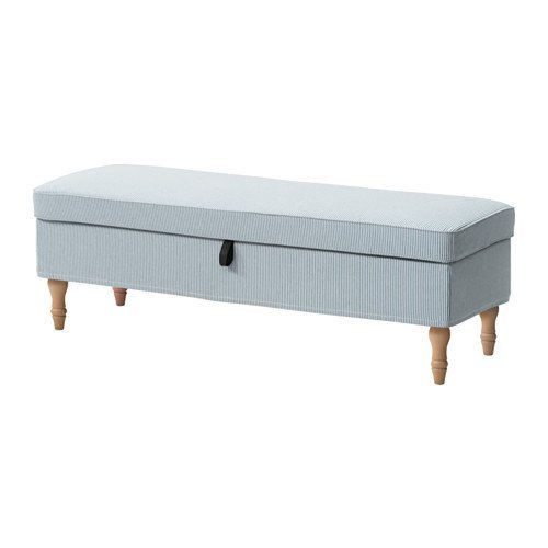 Ikea Bench cover, Remvallen blue/white 2028.22011.1426