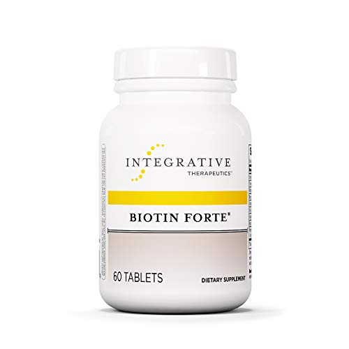 Integrative Therapeutics - Biotin Forte - Water-Soluble B Vitamin - Nervous System and Circulatory System Support - 60 Tablets (Fertility Enzyme Therapy)