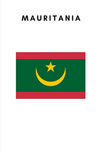 Mauritania: Country Flag A5 Notebook to write in with 120 pages ()