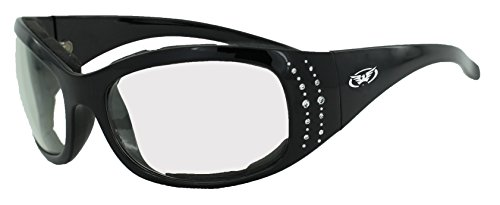 Global Vision Eyewear 24 Marilyn 2 Plus Series Sunglasses with Gloss Black Frame and Clear Photochromatic Lenses (Plus Black Frame Clear Lens)