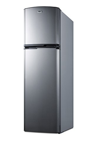 "Price comparison product image Summit FF948SS 8.8 cu.ft. Frost-Free Refrigerator-Freezer In Slim 22"" Width For Small Kitchens, Stainless Steel"