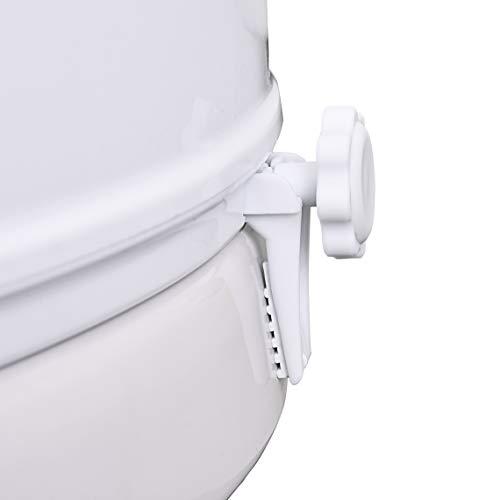 "Vaunn Medical Clamp-on 4"" Raised Toilet Seat Riser for Standard Size Round Toilets (16.5'')"