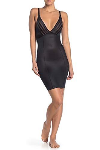 - Black Fuchsia by Secret Lace Women Full Slip Slimming Under Dress Full Body Shaping Control Shapewear, Plus Size 1X Black
