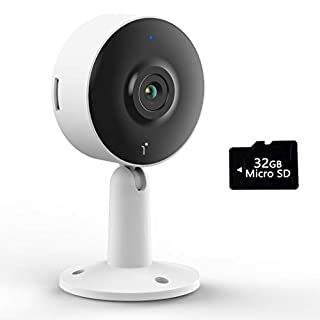 Home Security Camera, Arenti IN1 Indoor Cam System with 32G SD Card, 1080p HD, 2-Way Audio, Night Vision, Compatible with Alexa and Phone App