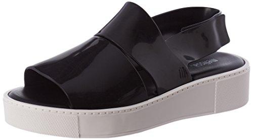 Melissa Women's Soho Flatform Sandals Black (Black Contrast) t6ESZ
