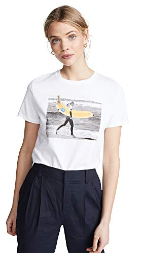 (Paul Smith Women's Surf Banana Tee, White,)