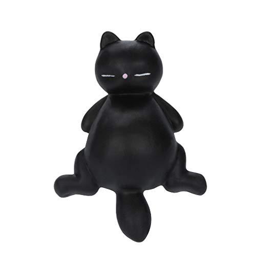 AckfulSquishyies Mochi Lazy Cat Kitty Squeeze Healing Fun Kawaii Stress Reliever Toys Gifts - Cafe Kitty Cat