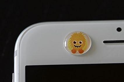 camcovR Kamera Privatsphären & Schutz Sticker-Set - Design: Monsters white  [5 verschiedene Motive | Hält ohne Kleber (rückstandsfrei entfernbar) |