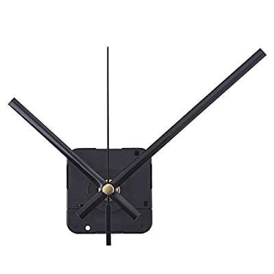 Mudder Long Spindle Quartz Clock Mechanism, 1/ 2 Inch Maximum Dial Thickness, 9/ 10 Inch Total Shaft Length