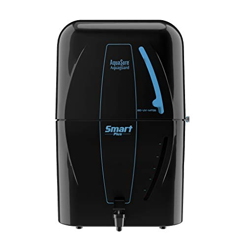 Eureka Forbes AquaSure from Aquaguard Smart Plus (RO+UV+MTDS) 6L water purifier,6 stages of purification (Black)