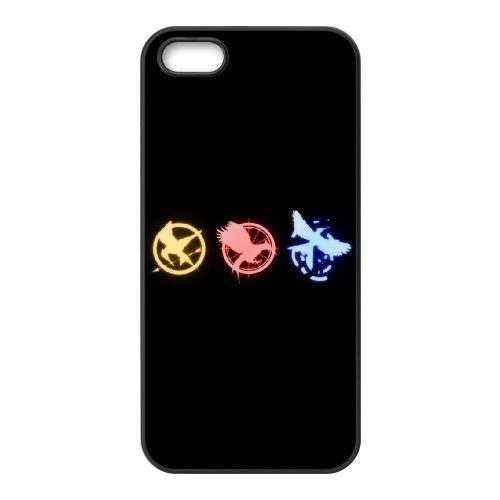 Hunger Games 001 2 coque iPhone 5 5S cellulaire cas coque de téléphone cas téléphone cellulaire noir couvercle EOKXLLNCD24495