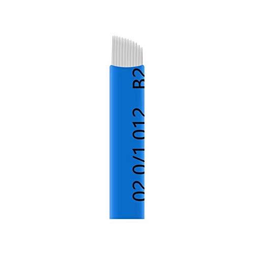 50PCS Finest 0.20mm Double Row 23 Pins Fog Eyebrow Blade Tattoo Needles Eyeliner Microblades
