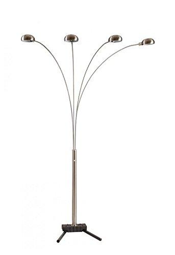[メジャーキュー]Major-Q Modern Arms Arch Floor Lamp Plus LED Sensor Night Light Combo, 4 Arms, Silver 4 Arms [並行輸入品] B01KLUYWN4 4 Arms Silver 6964sn 4 Arms Silver 6964sn