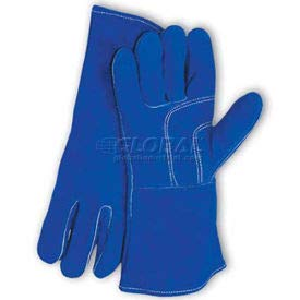 PIP Welder's Gloves, Blue Bison, Select Shoulder Grade W/Cotton Lining, Blue, Left Hand Only (73-7007LHO)