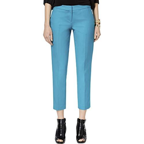 Michael Michael Kors Womens Straight Leg Cropped Cigarette Pants Blue 16