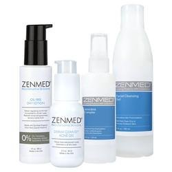ZENMED Acne Therapy for Combination Skin - Ideal for Troubled Skin Sufferers Combines a Gentle Cleanser, Exfoliating Toner, Potent Dual-acid Treatment and an Oil Controlling Moisturizer.