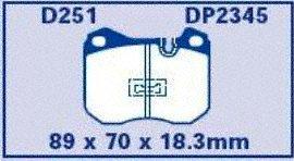 EBC Brakes DP2345 Greenstuff 2000 Series Sport Brake Pad