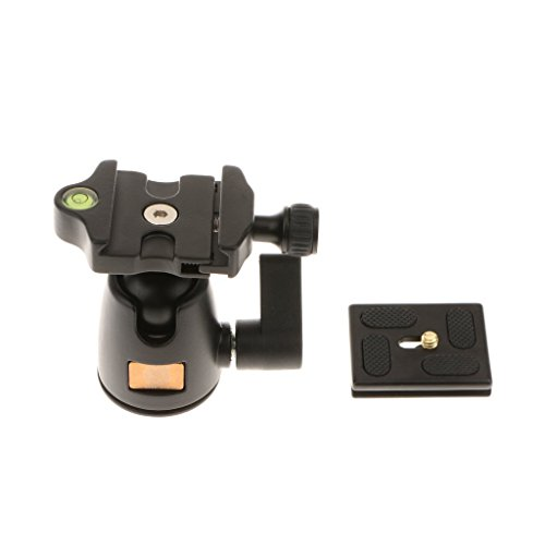 Morjava MJ-01 Professional DSLR Cam Camera Metal Tripod Ball Head Hot Shoe Mount with Quick Release Plate 1//4 Screw Max Load 5kg Black for Canon Sony DSLR Camera