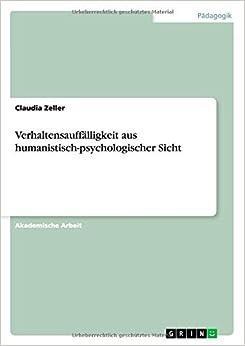 Book Verhaltensauffälligkeit aus humanistisch-psychologischer Sicht