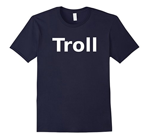 [Mens Troll T-Shirt. Board Game Role Playing LARP Halloween RPG 2XL Navy] (Dragon Old Navy Costume)