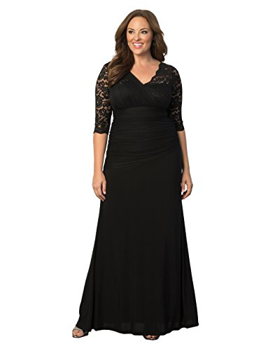 Kiyonna Women'S Plus Size Soiree Evening Gown 1X Onyx Basic Info