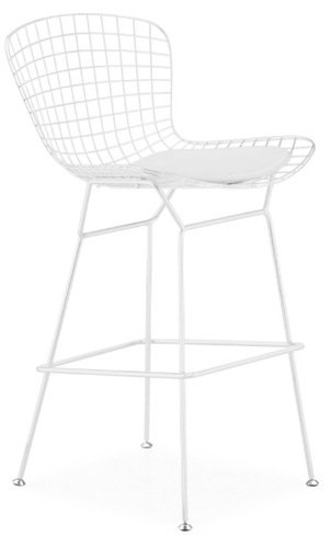 Admirable Amazon Com Bertoia Style Wire Counter Stool In White Finish Theyellowbook Wood Chair Design Ideas Theyellowbookinfo
