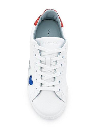 Ferragni Cuir Chiara Baskets Blanc Femme CF1911 dIrxCqrw