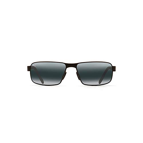 Maui Jim Sunglasses | Castaway 187-02M | Matte Black Rectangular Frame, Polarized Neutral Grey ()