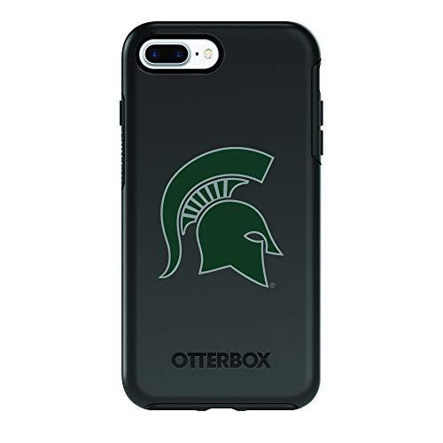 Fan Brander NCAA Black Phone case, Compatible with Apple iPhone 8 Plus and Apple iPhone 7 Plus and with OtterBox Symmetry Series (Michigan State Spartans)