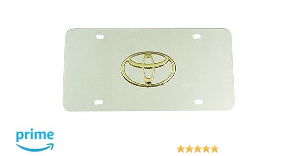 New Mazda Auto Gold MAZ2CC Chrome On Chrome License Logo Plate