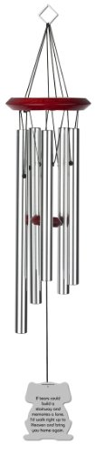 Chimesofyourlife dog-if-tears-19 Dog If Tears Pet Memorial Wind Chime, 19-Inch, Silver For Sale