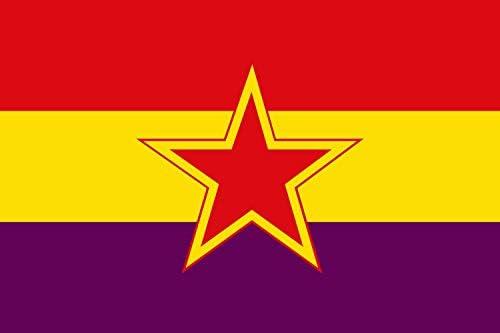 magFlags Bandera Large Partido Comunista de España reconstituido | Bandera Paisaje | 1.35m² | 90x150cm: Amazon.es: Jardín