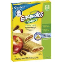 Gerber Graduates for Toddlers Apple Cinnamon Cereal Bar. 1 Box. 8 Count. by Gerber