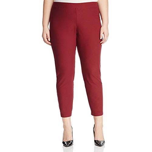 Eileen Fisher Womens Plus Slim Crepe Ankle Pants Red 2X