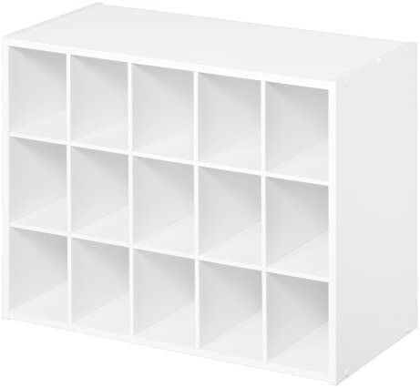 White Easy to assemble ClosetMaid 8983 Stackable 15-Unit Organizer