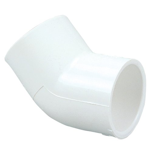 NIBCO 417 Series PVC Pipe Fitting, 45 Degree Elbow, Schedule 40, 3/4