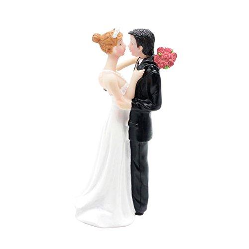Cake Couple Topper Holding - BESTOYARD Bride and Groom Resin Holding Bride Groom Figures Wedding Cake Toppers Valentine's Day Desktop Decorations Gift