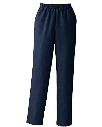 Gabardine Slacks - Donnkenny Elastic-Waist Gabardine Pull-On Pants, Navy, 10