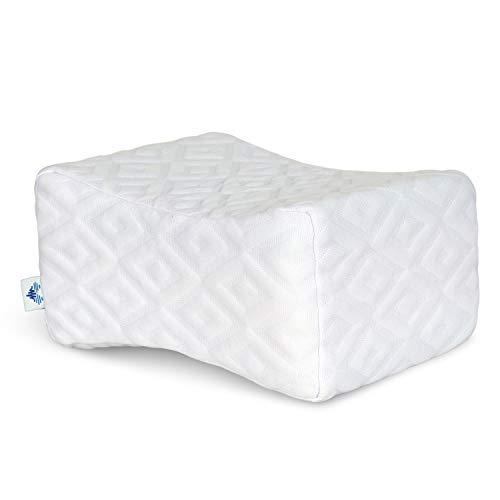 PharMeDoc Memory Foam Knee Pillow - Orthopedic Knee Wedge Pillow for Side Sleepers - Leg Support - Layered Memory Foam - New 2019 Model